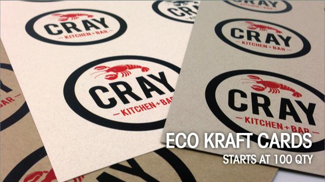 Eco Kraft Cards, NEW!