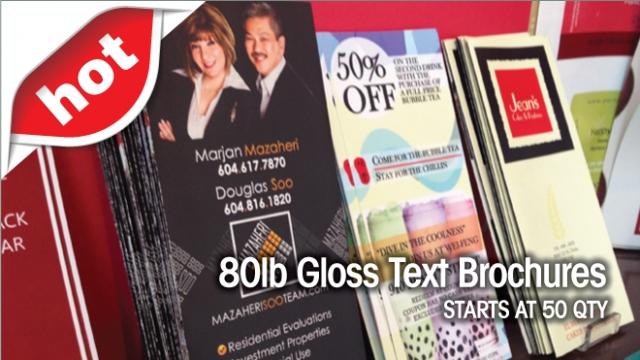 Folded 80lb Gloss Text