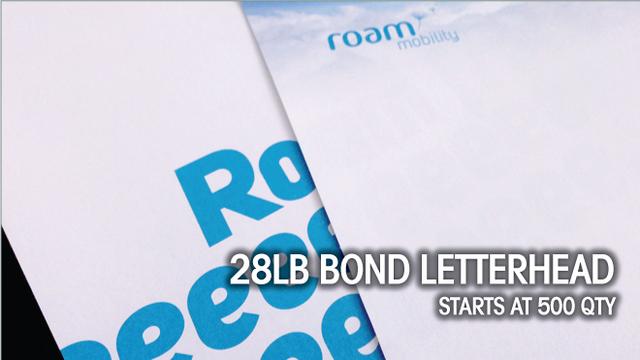 28lb Bond Letterhead