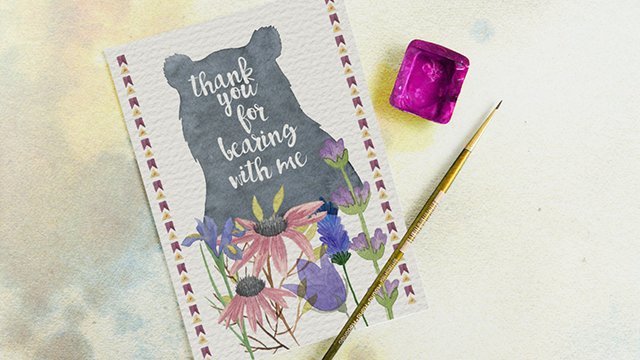 MIP Artiste Thank You Card