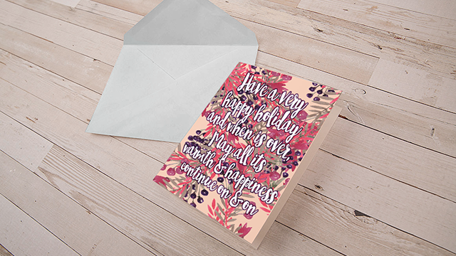 MIP Artiste Greeting Card
