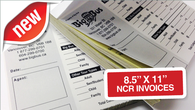 "NCR Invoices 8.5"" x 11"""