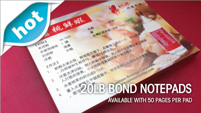 20lb Bond Notepads