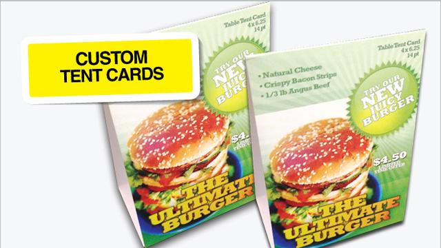 Custom Tent cards