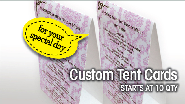 Custom Tent cards for weddings