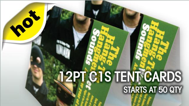 12pt C1S Tent Cards