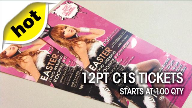12pt C1S Tickets