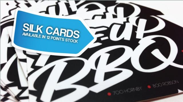 12pt Silk Cards