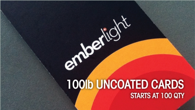 100lb Uncoated Cards